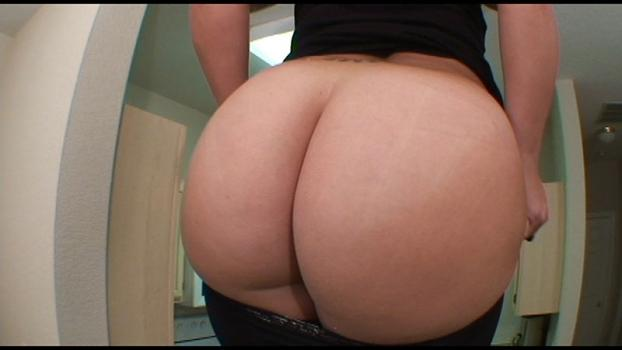 Bigasstease.com- Big butt PAWG struggles pulling her leggings up over all that ass meat