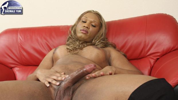 Black-tgirls.com- Trejour Cums Hard