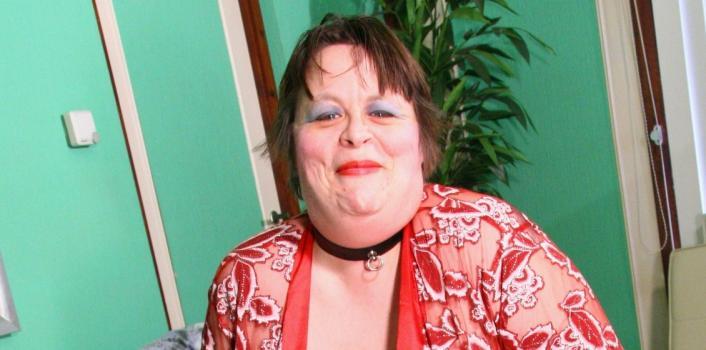 Mature.nl- Horny BBW shows her massive tits