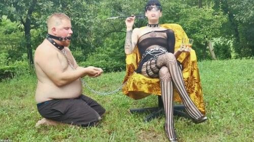 Goth domina take cigarette outdoor serviced out by her slave pt1 HD | Beth Kinky