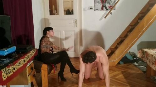 Sexy goth domina caning slave's penis cbt pt2 HD | Beth Kinky
