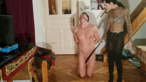Sexy goth domina caning slave's penis cbt pt1 HD | Beth Kinky