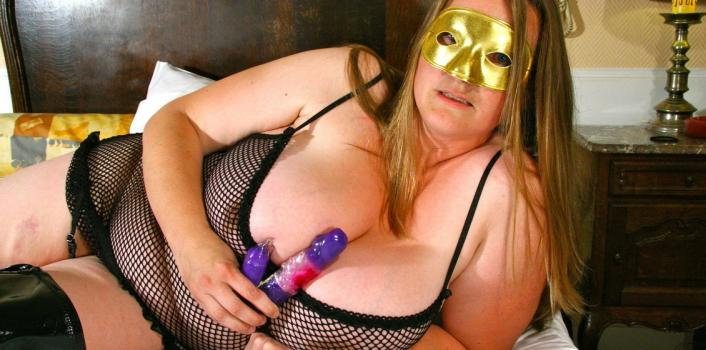 Mature.nl- Kinky mystery woman licking her huge natural tits