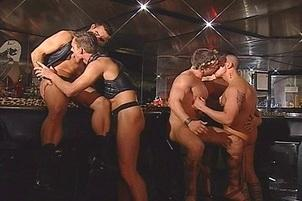 Awesomeinterracial.com- Gay Club Drinking Party Turns Into Big Cock Orgy
