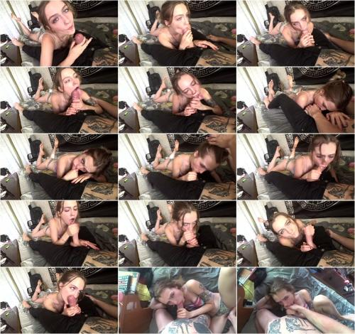PsyAdel - Sloppy Young Schoolgirl Deepthroats her Dad, Cum in Mouth and Face, Blowjob in Foot Position [FullHD 1080P]