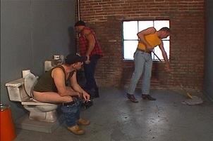 Awesomeinterracial.com- Janitor Sucks And Fucks A Redneck