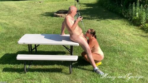 Risky Outdoor Blowjob Full Nude from Missy and George | georgenmissy