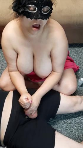 Zoned out slut with huge tits flings cum everywhere. | SheLuvsMyNut