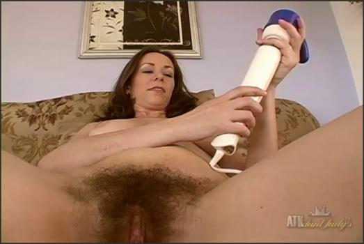 Auntjudys.com- Sexy mature housewife August interviews and masturbates.
