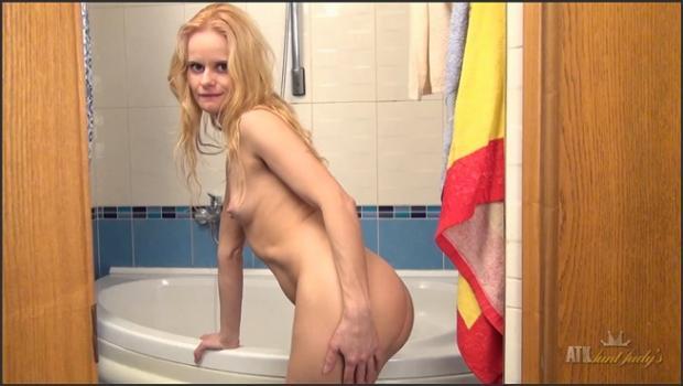 Auntjudys.com- Milf Suzy masturbates in the shower.