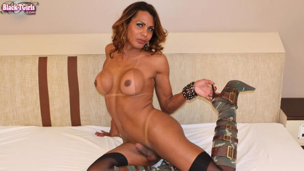 Black-tgirls.com- Desirable Carla Araujo
