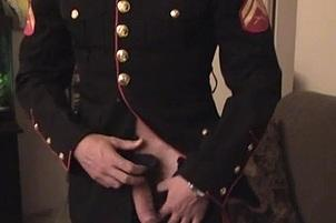 Awesomeinterracial.com- Hunky Man in Uniform Playing with Dick