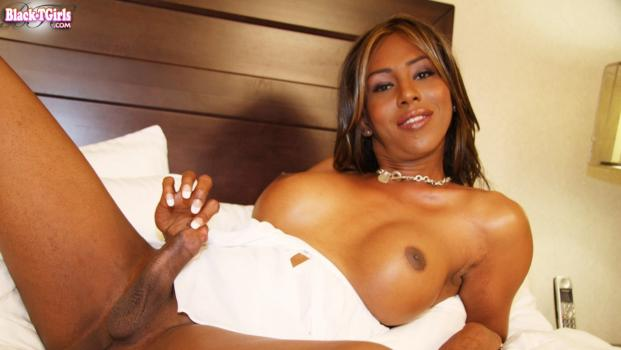 Black-tgirls.com- In Bed With Paris