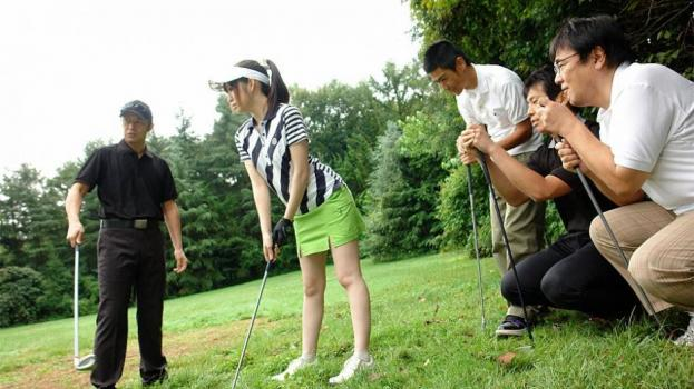 Japanhdv.com- Michiru Tsukino practices playing with hard sticks